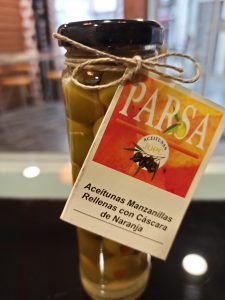 Aceitunas Manzanillas Rellenas con cáscara de Naranja