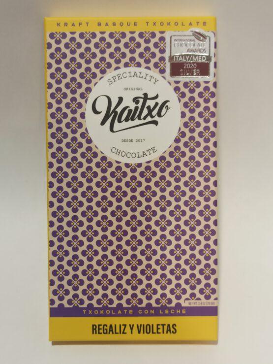 Chocolate con Leche con Regaliz y violetas
